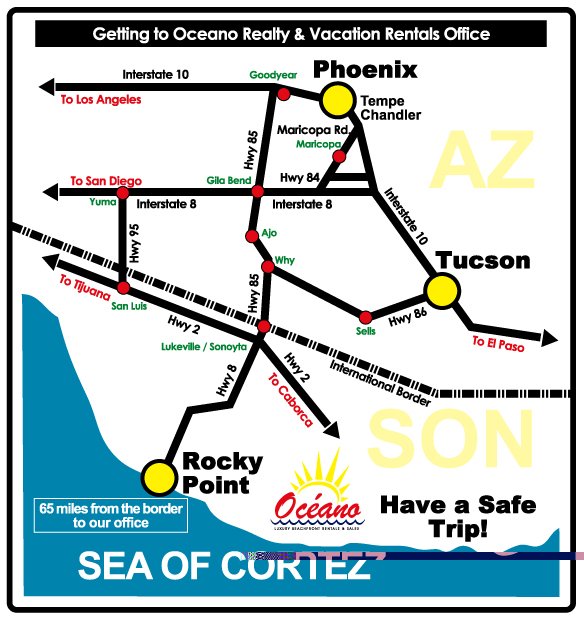 Oceano map overview